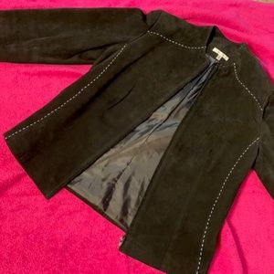 Womens black Suede Jacket size 8
